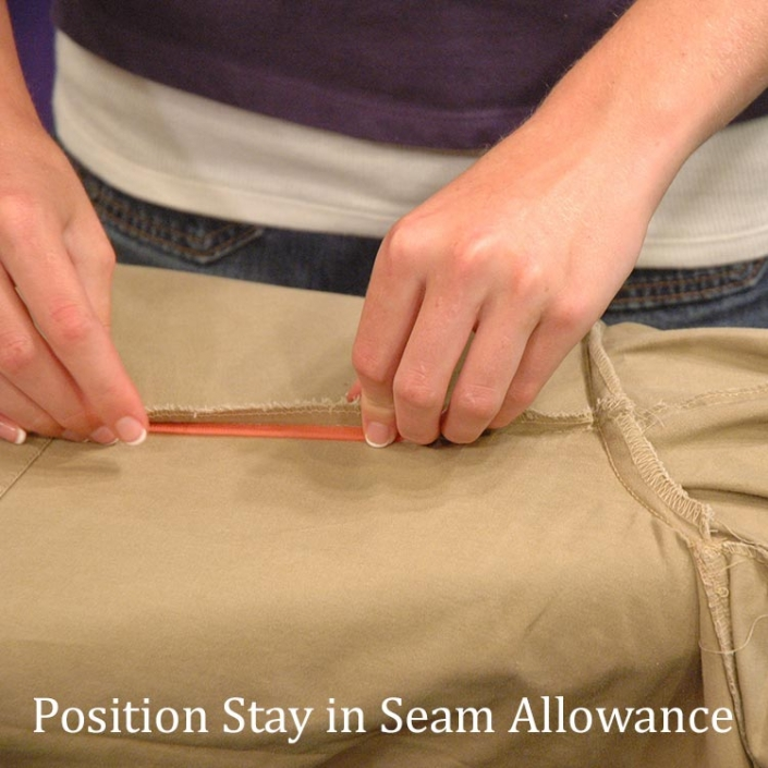 Stay Placed under Seam Allowance