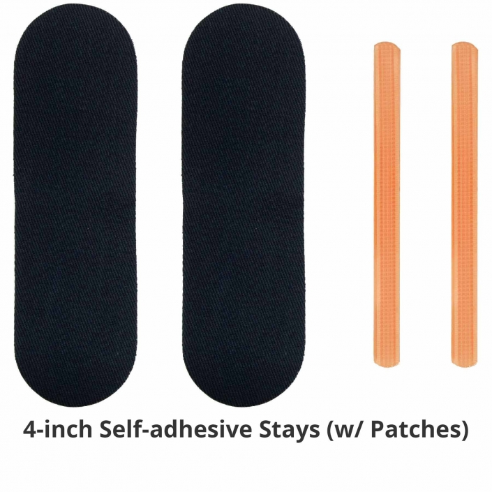 NoRiders 4-inch Self-adhesive Stays